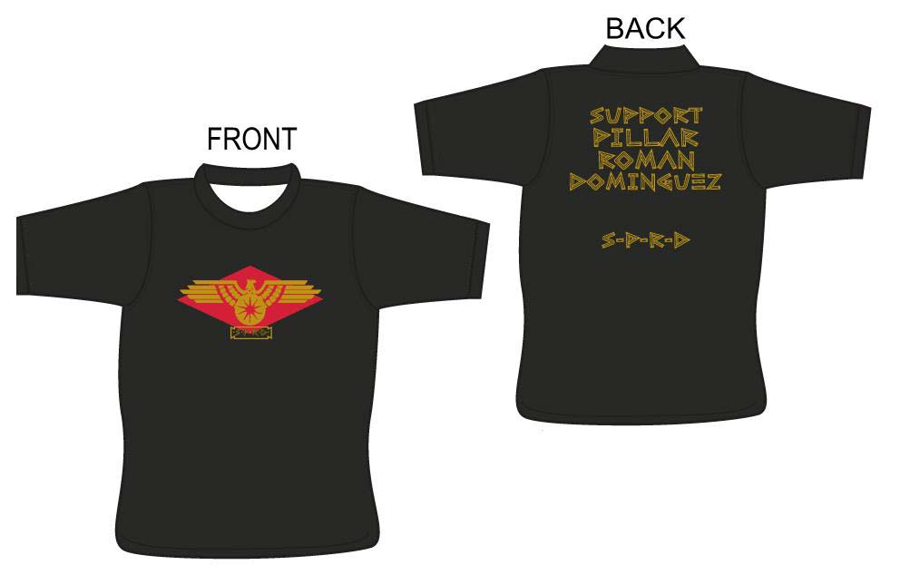 Front: Dominguez Crest. Back: Support Pillar Roman Dominguez SPRD